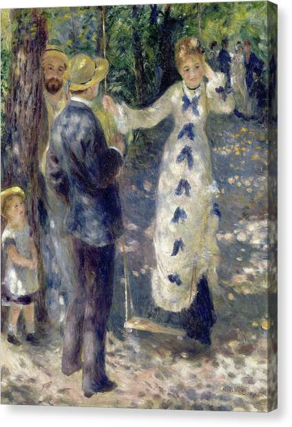 Pierre-auguste Renoir Canvas Print - The Swing by Pierre-Auguste Renoir