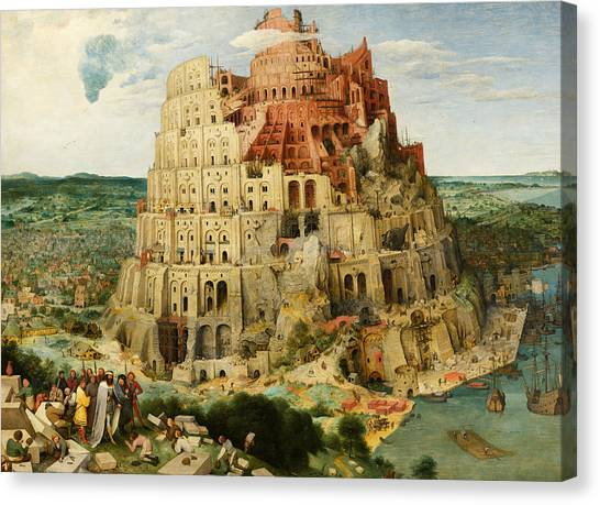 The Tower Of Babel  Canvas Print