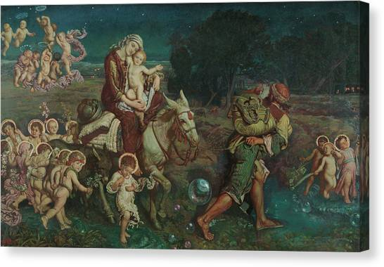 Celestial Globe Canvas Print - The Triumph Of The Innocents by William Holman Hunt