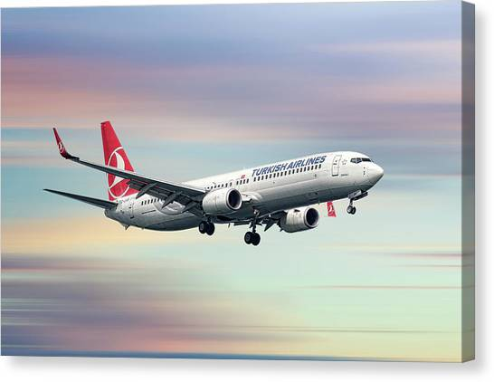 Turkish Canvas Print - Turkish Airlines Boeing 737-9f2 by Smart Aviation