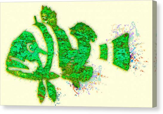 Seahorse Canvas Print - Underwater.fish. by Elena Kosvincheva