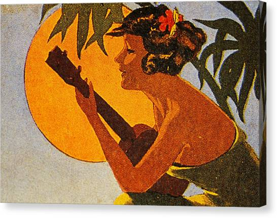 Vintage Hawaiian Art Canvas Print