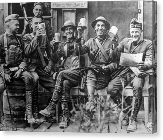 Jt History Canvas Print - World War I, American Soldiers by Everett