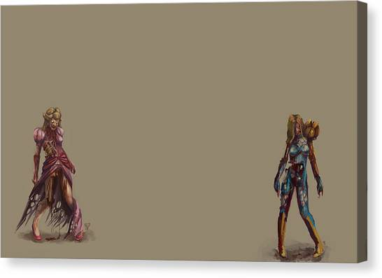 Metroid Canvas Print - Zombie by Alice Kent