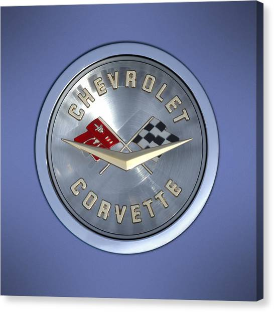 60 Chevy Corvette Emblem  Canvas Print