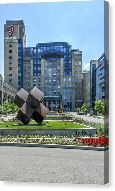 Ohio University Canvas Print - 6054- University Hospital by David Lange
