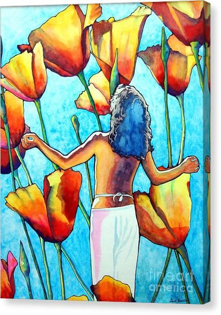 60s Meditation Canvas Print by Gail Zavala