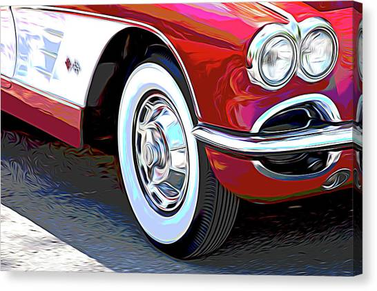 Automobiles Canvas Print - 61 Corvette by Tom Mc Nemar