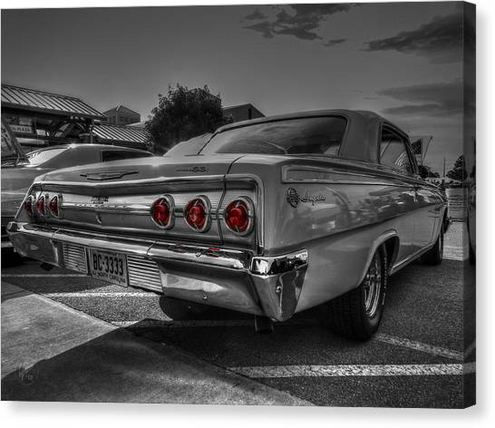 Canvas Print featuring the photograph '62 Impala Ss 001 by Lance Vaughn
