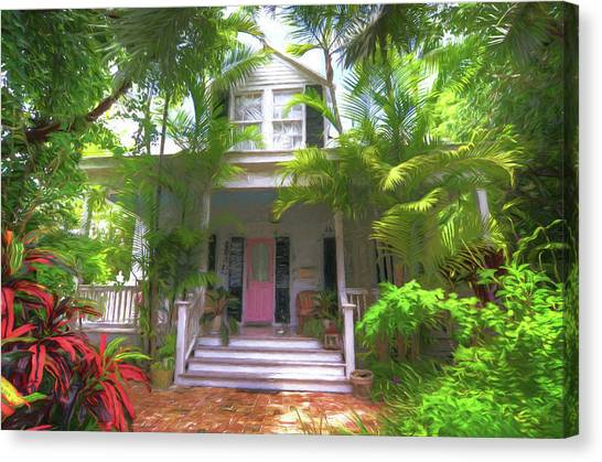 John Adams Canvas Print - 620 Elizabeth Street - Key West Florida by John Adams