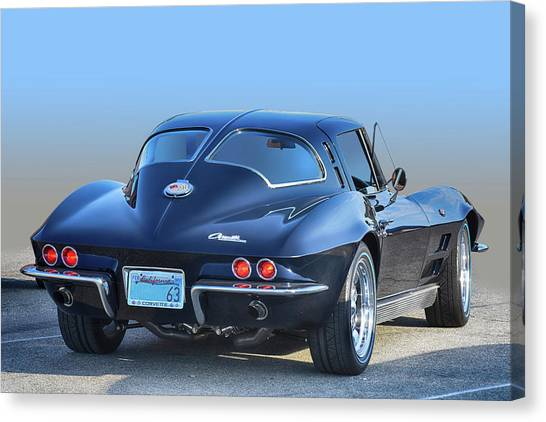 63 Swc In Black Canvas Print by Bill Dutting