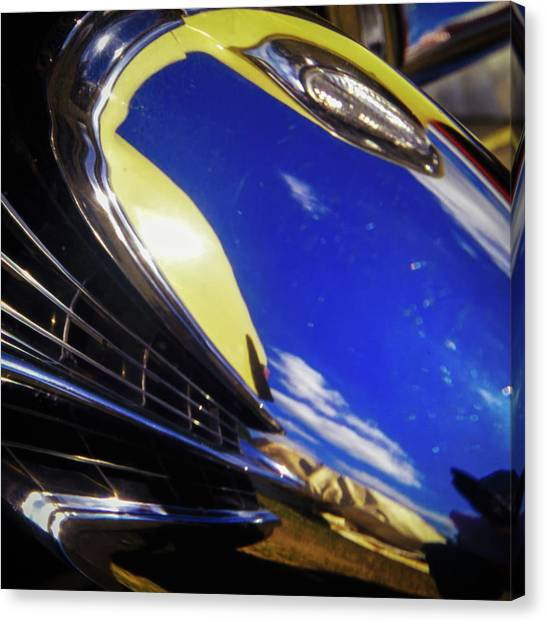 Canvas Print featuring the photograph '65 Cadillac Abstract by Samuel M Purvis III
