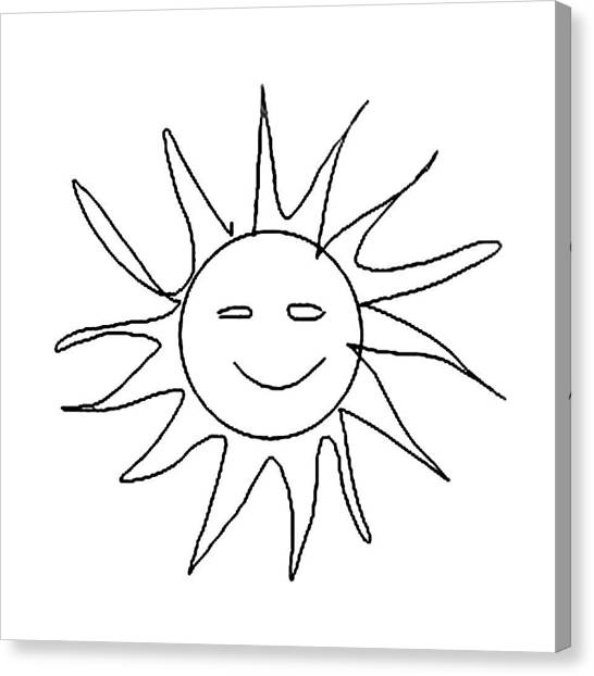 6.57.hungary-6-detail-sun-with-smile Canvas Print