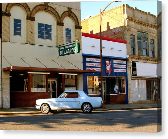 66 Mustang Down Town Canvas Print by Danny Jones