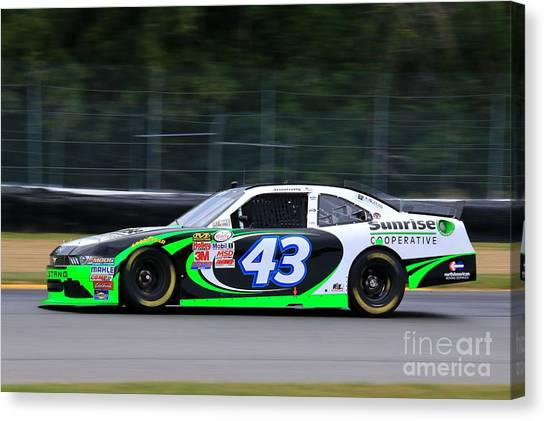 Team Penske Canvas Print - Nascar Racing by Douglas Sacha