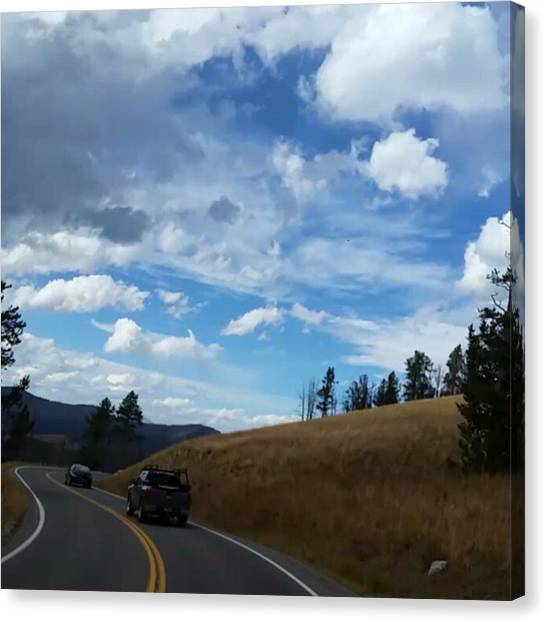 Rocky Mountains Canvas Print - The Highway Of Life by Jonathan Stoops