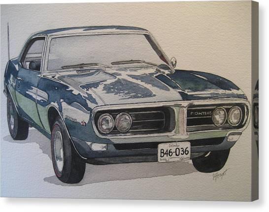 68 Firebird Sprint Canvas Print by Victoria Heryet