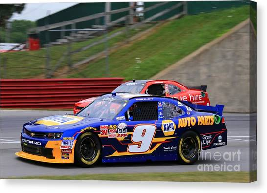 Richard Childress Canvas Print - Chase Elliott Racing by Douglas Sacha