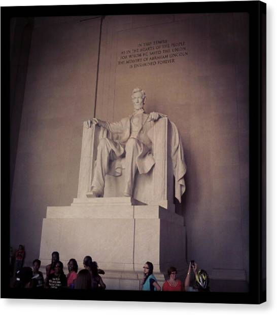 Republican Presidents Canvas Print - Abraham Lincoln by Mohamed Salem