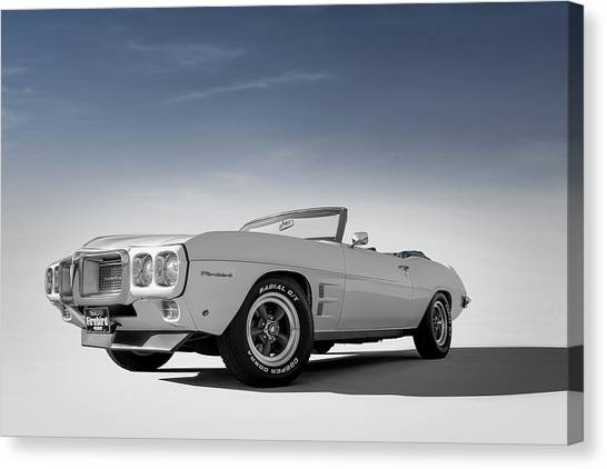 Muscle Cars Canvas Print - 69 Firebird Convertible by Douglas Pittman