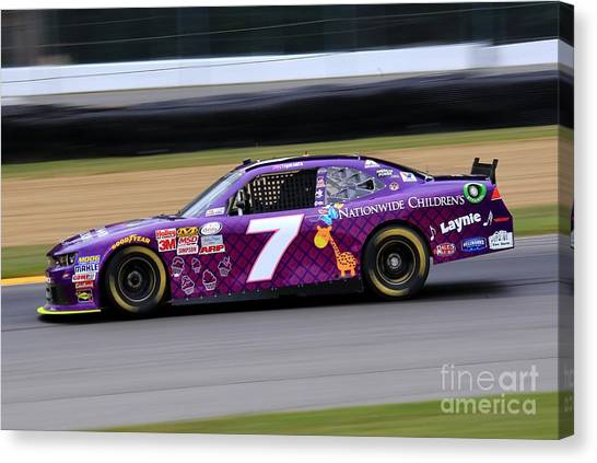 Joe Gibbs Canvas Print - Nascar Professional Racing by Douglas Sacha