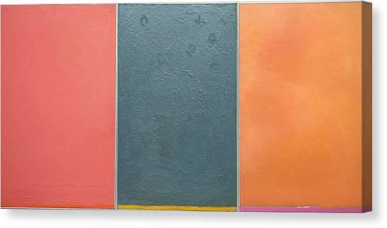 Triptic Oil On Canvas 24x36 Canvas Print