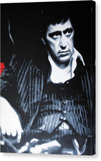 Scarface Canvas Print - - Scarface - by Luis Ludzska