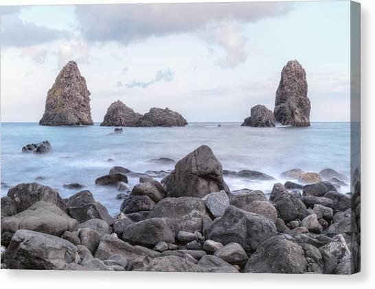 Cyclops Canvas Print - Aci Trezza - Sicily by Joana Kruse