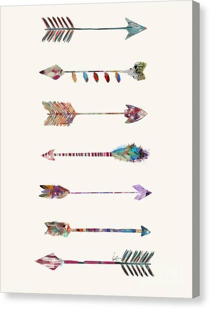 Native Canvas Print - 7 Arrows by Bri Buckley
