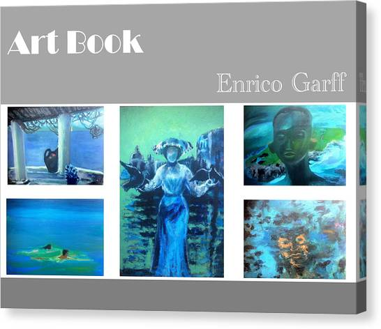 Art Book Canvas Print