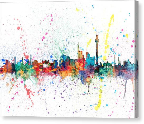 German Canvas Print - Berlin Germany Skyline by Michael Tompsett