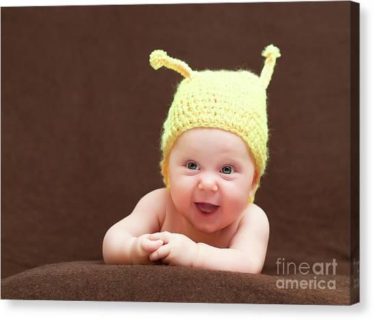 Cute Newborn Portrait Canvas Print