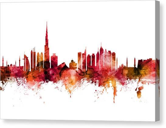 Dubai Skyline Canvas Print - Dubai Skyline by Michael Tompsett