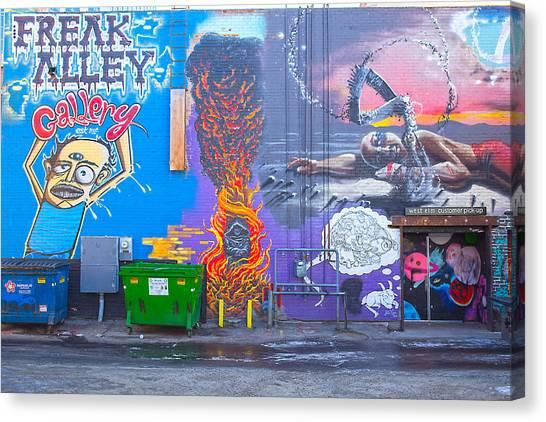Freak Alley Boise Canvas Print