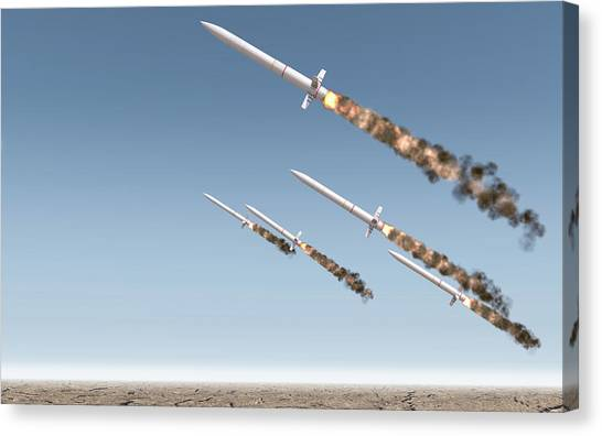Warheads Canvas Print - Intercontinental Ballistic Missile by Allan Swart