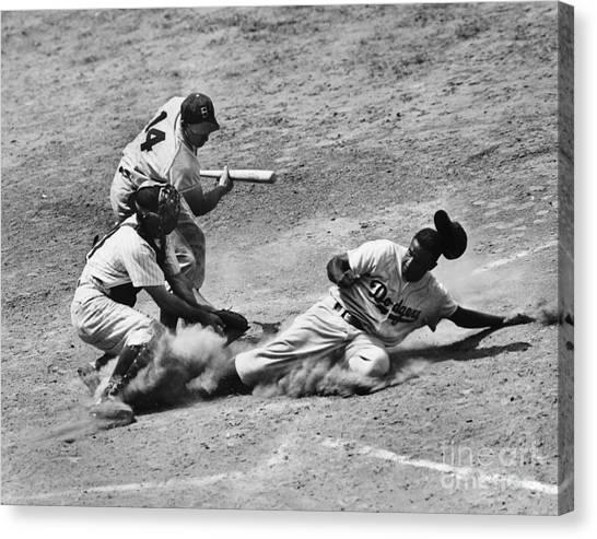 Philadelphia Phillies Canvas Print - Jackie Robinson (1919-1972) by Granger
