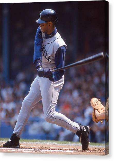 Seattle Mariners Canvas Print - Ken Griffey, Jr.  by Positive Images