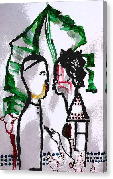 Ceramics Canvas Print - Kintu And Nambi Poster by Gloria Ssali