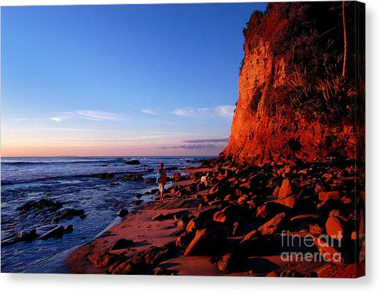 Malibu Sunrise Canvas Print by Marc Bittan
