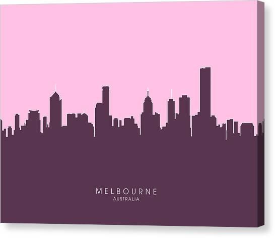 Australian Canvas Print - Melbourne Skyline by Michael Tompsett