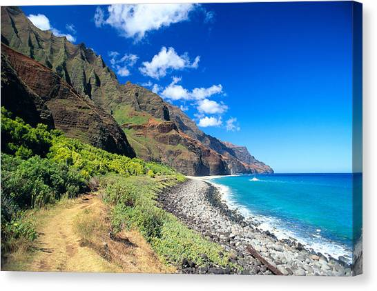 Na Pali Coast Canvas Print by Peter French - Printscapes