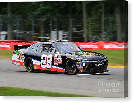 Joe Gibbs Canvas Print - Toyota Camry Racing by Douglas Sacha
