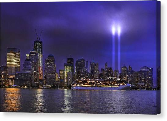 New York City Skyline Canvas Print - New York by Jackie Russo
