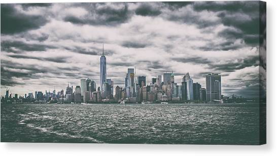 Business-travel Canvas Print - New York Skyline by Martin Newman