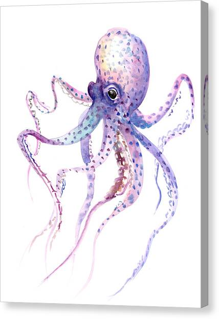 Spring Canvas Print - Octopus by Suren Nersisyan