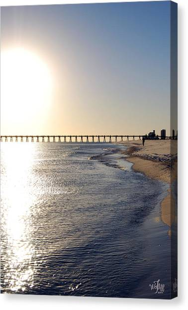 Call Of Duty Canvas Print - Pensacola Beach by Thea Wolff