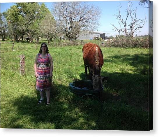 Farm Animals Canvas Print - People by Jackie Russo