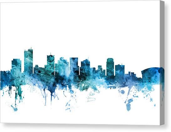 Phoenix Canvas Print - Phoenix Arizona Skyline by Michael Tompsett