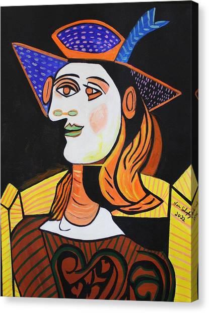 Hair Net  Picasso Canvas Print