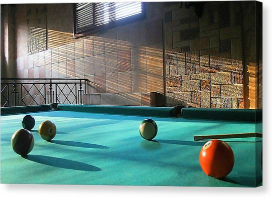 Tennis Ball Canvas Print - Pool by Super Lovely